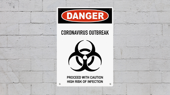 coronavirus outbreak danger sign